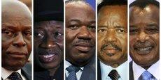 José Edouardo Dos Santos ; Goodluck Jonathan ; Ali Bongo ; Paul Biya ; et Denis Sassou Nguesso.