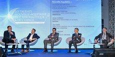 Christophe Betencourt (Stelia Aerospace), Christophe Chartier (Immersion), Olivier Horaist (Safran), Jean Sass (Dassault Aviation) et Patrick Seguin (CCI de Bordeaux Gironde)