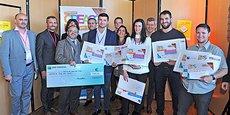 Les lauréats du concours Cré'Acc et les partenaires du conseil régional de l'ordre des experts-comptables de Montpellier.