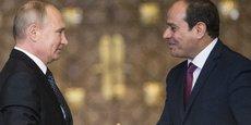 Les présidents Vladimir Poutine et Abdel Fattah al-Sissi.
