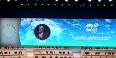 François Villeroy de Galhau, le gouverneur de la Banque de France, mardi au One Planet Summit.