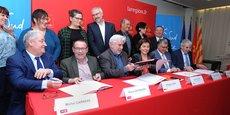 Les quatre interprofessions ont signé une convention avec Carole Delga, présidente de Sud de France Développement.