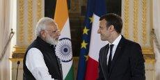 Le Premier ministre indien, Narendra Modi, et le président Français, Emmanuel Macron, lors d'une rencontre à Paris en juin 2017.