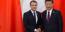 Poignée de main entre Emmanuel Macron et Xi Jinping le 8 juillet dernier lors du G20 en juillet 2017.