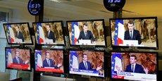 Intervention d'Emmanuel Macron lors des voeux à la presse la semaine dernière.
