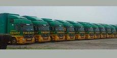 Une partie de la flotte de l'entreprise.