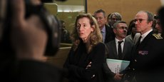 Nicole Belloubet en déplacement au tribunal de Grande instance de Toulouse.