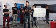 Etudiants et porteurs de projet lors du weekend d'accélération #TechTheFuture.