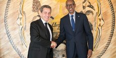 L'ancien président français Nicolas Sarkozy et Paul Kagamé, président du Rwanda et président en exercice de l'Union africaine.