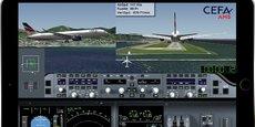 Semblable à un jeu sur simulateur, l'interface d'AMS (Aviation Mobile Services) permet au pilote de revivre, quelques minutes après l'atterrissage, des phases significatives relatives au vol qui vient de se terminer. L'ensemble est présenté sous forme ludique, avec une vue panoramique du cockpit et une synthèse des principaux instruments.