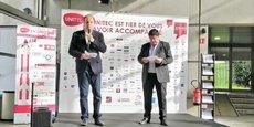 Stéphane Rochon et Didier Roux, respectivement directeur général et président d'Unitec