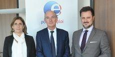 Serge Lemaitre (au centre), directeur Régional de Pôle emploi Occitanie, a félicité les nouveaux élus et dressé les différentes missions qu'ils devront accomplir.