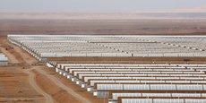 La centrale solaire thermodynamique Noor, près de Ouarzazate au Maroc.
