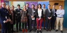 Les lauréats et le jury lyonnais du concours 10.000 startups pour changer le monde.