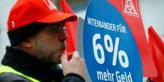 Les syndicats allemands sont des syndicats de branche. Ils sont les seuls habilités à fixer le montant des salaires et la durée du temps de travail.