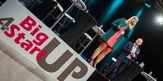 Lucie Phaosady et Pierre Billet, sur scène pour BigUp For Startup