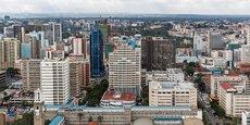 Vue aérienne sur Nairobi, la capitale kényane qui abrite le siège de I&M Bank.