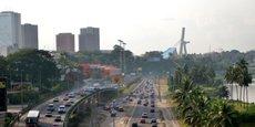 Vue d'Abidjan, la capitale ivoirienne.