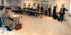 Les chefs d'entreprise réunis pour la formation en cybersécurité proposée par la CCI 66 et Orange.