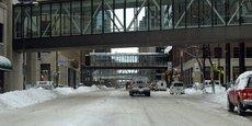 Le complexe piétonnier Skyway permet aux habitants de Minneapolis de se promener pendant les hivers rigoureux.