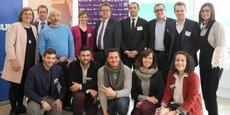 Le jury et les lauréats de la région Occitanie du prix 10000 startups pour changer le monde.