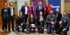 Le jury et les lauréats de la région Nouvelle-Aquitaine pour le prix La Tribune 10000 startups pour changer le monde.