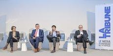 Tiphaine Bichot (Athome Solution / TestLAB), Ludovic Favarette (BPACA / BPCE), Michaël Haddad (L'Oréal / Kedge Business School) et François Pellerin (Usine du futur de Nouvelle-Aquitaine) étaient réunis le 8 février dans les locaux de Kedge Business School.