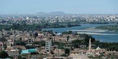 Vue aérienne sur Khartoum, la capitale du Soudan.