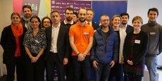 Le jury et les lauréats d'Ile-de-France du Prix 10000 startups pour changer le monde.