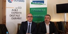 E. Giraudier (CCI 30) et V. Vinot (Initiative Gard)