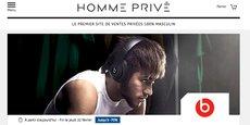 Le site de ventes privées www.hommeprive.com est lancé le 15 février 2018 par l'Héraultais Private Sport Shop.