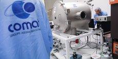 Comat a investi dans des salles blanches pour tester sa technologie de propulsion électrique.