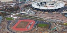 Chantier de la construction du Stade olympique à Londres pour les JO 2012 - DR.