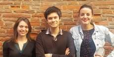 Angély Ludger, David Maleville et Mathilde Bru (de gauche à droite), veulent développer le marché du tatouage en France grâce à leur encre qui peut disparaître et à réapparaître.