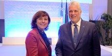 Carole Delga et le Premier ministre québécois le 6 mars à Toulouse.