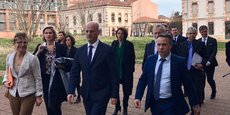 Après sa visite au lycée Galliéni, le ministre de l'Éducation Nationale s'est rendue au Rectorat de Toulouse.