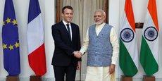 Emmanuel Macron et le Premier ministre indien, Narendra Modi.
