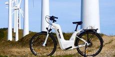 Le premier vélo à hydrogène de la société Pragma Industries.