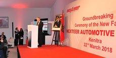 Mike Richardson, président de Nexteer Automotive, lors de son allocution à l'occasion  du lancement des travaux de la nouvelle usine à Kénitra au Maroc, ce jeudi 22 mars.