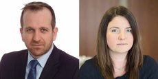Luc Baqué, CEO Europe d'Alpha FMC, et Olivia Vinden, experte blockchain au sein du cabinet Alpha FMC à Londres.