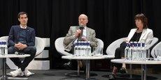 Nicolas Hazard, fondateur d'INCO, Alain Juppé, président de Bordeaux Métropole et maire de Bordeaux, et Alexandra François-Cuxac, présidente de la Fédération nationale des promoteurs immobiliers