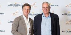 Sébastien Bazin, PDG d'AccorHotels et Adrian Gardiner, fondateur et président de Mantis Collection.