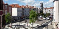 Le centre-ville d'Issoire