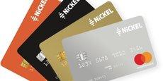 Déclinée en quatre couleurs, la nouvelle carte de paiement de Nickel sera facturée 30 euros par an.