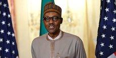 Le président nigérian Muhammadu Buhari lors d'un point de presse, le 21 juillet 2015, au Département d'Etat à Washington.