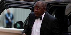 Le président sud-africain Cyril Ramaphosa à son arrivée au Guidhall à Londres, le 17 avril 2018, pour participer au dîner officiel du Commonwealth Business Forum.