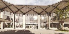 Future façade d'entrée du bâtiment d'accueil de Michelin.