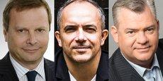 De g. à d. : Olivier Perquel ancien membre du comité de direction générale de Natixis, Albin Serviant, entrepreneur et business angel, président co-fondateur de FrenchTech London, et Alexandre Mironesco, président fondateur de Iéna Capital.