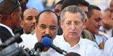 Ould Bouamatou à la gauche de son cousin Président, Ould Abdelaziz du temps où le premier était encore le principal soutien financier du second.