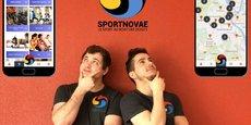 Hugo Caillier et Clément Bonneau, les deux fondateurs de l'application mobile Sportnovae